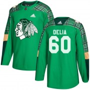 Adidas Collin Delia Chicago Blackhawks Youth Authentic St. Patrick's Day Practice Jersey - Green