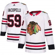 Adidas Matt Iacopelli Chicago Blackhawks Youth Authentic Away Jersey - White