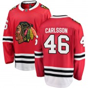 Fanatics Branded Jonathan Carlsson Chicago Blackhawks Youth Breakaway Home Jersey - Red