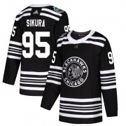Adidas Dylan Sikura Chicago Blackhawks Men's Authentic 2019 Winter Classic Jersey - Black