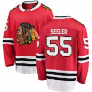 Fanatics Branded Nick Seeler Chicago Blackhawks Men's Breakaway Home Jersey - Red
