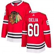 Adidas Collin Delia Chicago Blackhawks Men's Authentic Home Jersey - Red