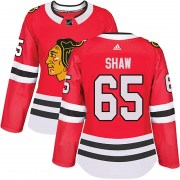 Adidas Andrew Shaw Chicago Blackhawks Women's Authentic Home Jersey - Red