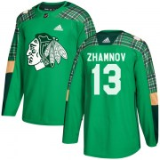 Adidas Alex Zhamnov Chicago Blackhawks Men's Authentic St. Patrick's Day Practice Jersey - Green
