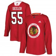 Adidas Nick Seeler Chicago Blackhawks Men's Authentic Home Practice Jersey - Red