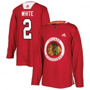 Adidas Bill White Chicago Blackhawks Men's Authentic Red Home Practice Jersey - White