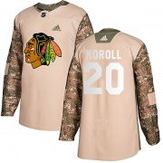 Adidas Cliff Koroll Chicago Blackhawks Men's Authentic Veterans Day Practice Jersey - Camo